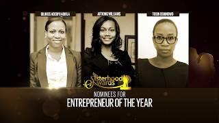 Nominees ENTREPRENEUR OF THE YEAR - Sisterhood Awards 2017