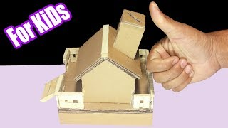 how to make personal coin house With cardboard for kids