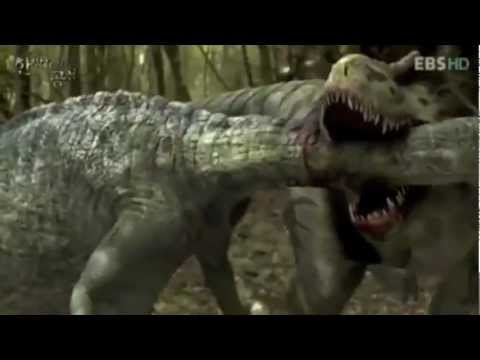 EPIC DINOSAUR BATTLE- LOTS OF BLOOD AND GORE