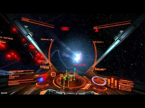 Elite: Dangerous Beta 2.02 - Eagle Combat... And No Disconnection!?!? (PC) 1080P HD