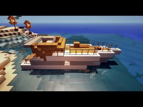 Minecraft tutoriel petit bateau de luxe yacht hors bord youtube - Interieur bateau de luxe ...