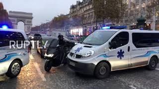 France: Ambulances blockade Champs-Elysees over transport reforms