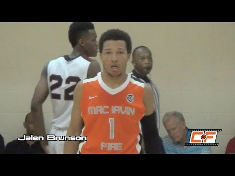 Jalen Brunson Drops 34 In A Win Over Houston Hoops @ EYBL Peach Jam