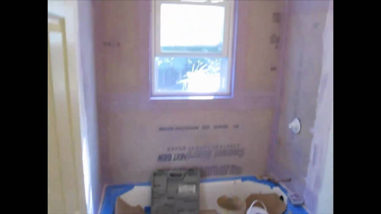 Ceramic Tile Tub Area With Window Youtube