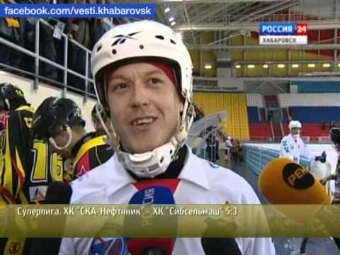 """Вести-Хабаровск. """"СКА-Нефтяник"""" - """"Сибсельмаш""""(Новосибирск) 5:3"""