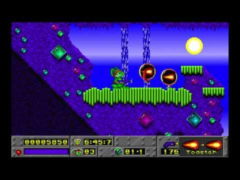 Jazz Jackrabbit Episode 1: Turtle Terror Diamondus level 1 1994 Epic Megagames HD