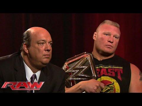 Brock Lesnar and Paul Heyman speak: January 26, 2015