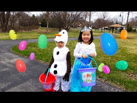 HUGE Easter Eggs Hunt with Frozen Elsa Olaf, Thomas and Friends, Disney Cars, Peppa pig, Shopkins