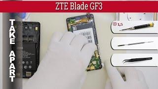 Как разобрать 📱 ZTE Blade GF3 (ZTE T320 / ZTE Blade Q Pro) Разборка и ремонт