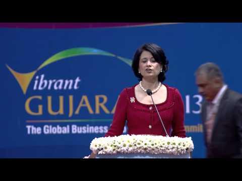 Renu Khator's speech during inaugural ceremony of Vibrant Gujarat Global Summit 2013