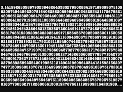 Matrix numbers background