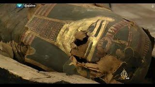 اكتشاف رسوم جديدة بألوان نادرة على مومياء مصرية