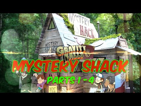 DIY - Gravity Falls Mystery Shack - COMPLETE SERIES - EXTREME CRAFT - Parts 1-4