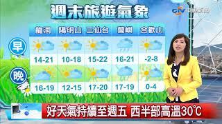 秀瑜氣象報報~天氣晴朗穩定 冷空氣減弱逐日回溫│中視新聞 20180311