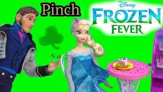 Queen Elsa Hans Pinch Princess Anna Frozen Fever Disney Dolls Kristoff St Patricks Holiday Playing