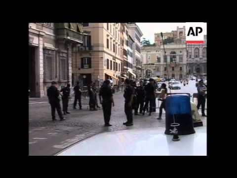 Tight security in Rome ahead of Obama's trip to visit Pope Benedict XVI