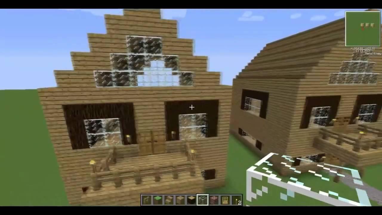 Minecraft tutorial casa di legno youtube for Case belle su minecraft