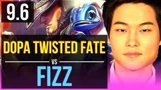 Dopa TWISTED FATE vs FIZZ (MID) (DEFEAT)   Korea Grandmaster   v9.6
