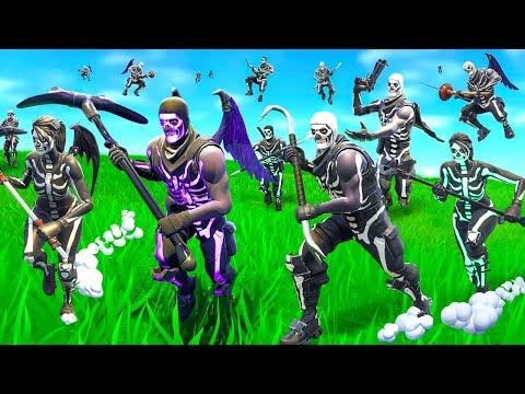 So we made a Skull Trooper Horde In Fortnite
