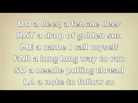 Sound Of Music : Do-re-me Lyrics video