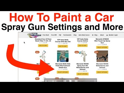 how to paint a car spray gun psi setting and more youtube. Black Bedroom Furniture Sets. Home Design Ideas