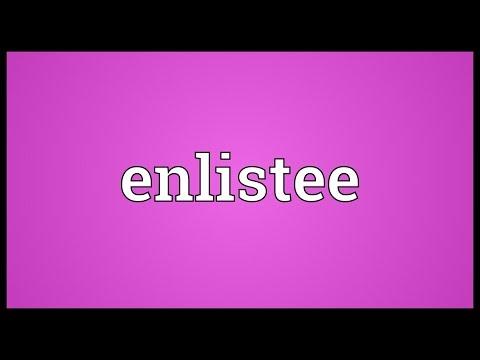 Header of enlistee