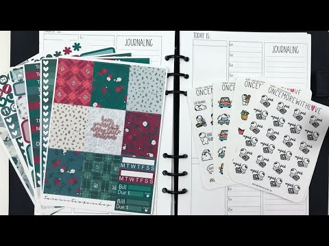 Plan With Me & Gymnastics Vlog || A5 Planner featuring Tarin's Sticker Shop and Once More With Love