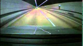 The driver's point of view at the car accident
