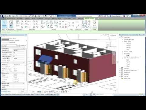 Revit Tutorials | Terraced Houses Design 5 | Revit Architecture 2014