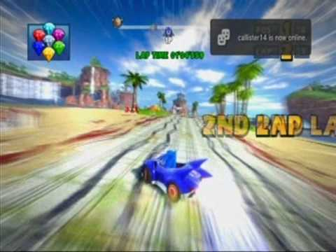 Sonic & Sega All-Stars Racing - Ocean Ruin - Sonic - EPIC ALL-STAR MOVE SHORTCUT!!! (2:33:538 3-Lap)
