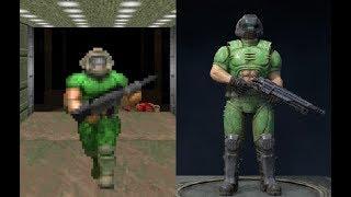 Quake Champions vs (Quake 3, Doom 1, Doom 3, RTCW) - Characters Comparison + All Skins