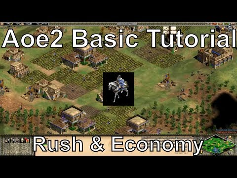 Aoe2 HD: Tutorial: Fast Castle Age, Knight Rush, Economic Boom