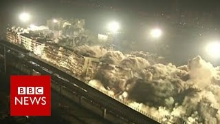 19 buildings gone in 10 seconds - BBC News