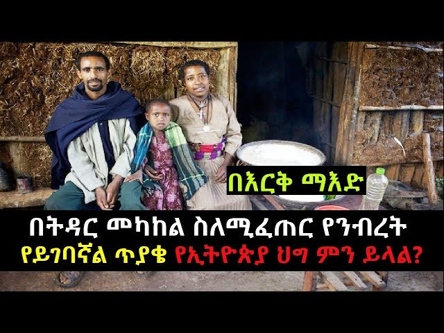 What Does Ethiopian Law Say About A property dispute between a marriage