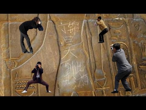 Chinese tourist defaces Luxor Temple in Egypt