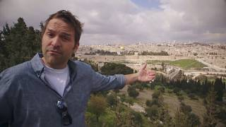 Dave visit the actual Garden of Gethsemane where Jesus was betrayed and arrested...