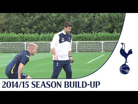 Exclusive - Mauricio Pochettino takes his first Spurs training session