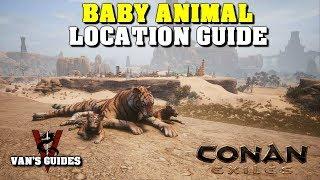 Conan Exiles - Baby Animal Pet Locations Guide (10.11.18)