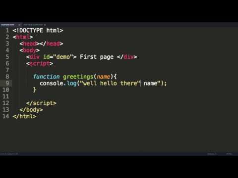 Javascript Tutorial 8  Writing Functions