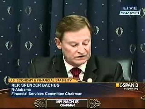 Bachus opening statement during FSOC hearing with Geithner