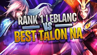 The EPIC Duel - CRUSHING THE BEST Challenger Talon - Rank 1 LEBLANC Gameplay - LoL Highlights