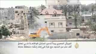 بدء المرحلة الثانية من تدمير المنازل حول غزة