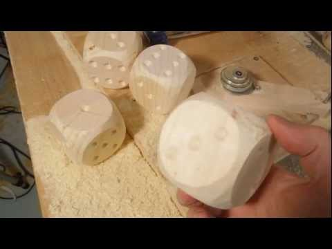 Making rounded wooden dice