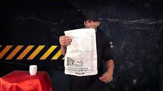 تعلم العاب الخفة # 316 . newspaper magic  revealed