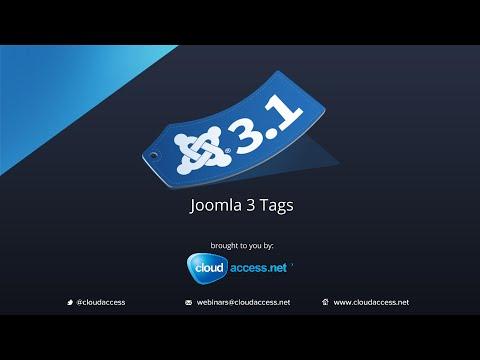Joomla 3.1 Tags Webinar