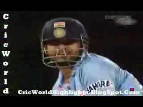 Brett Lee throws a Deadly Beamer at Sachin Tendulkar   CricFire com www keepvid com