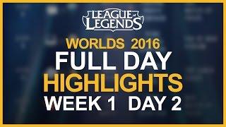 Worlds 2016 Highlights W1D2: SKT vs C9, FW vs IMAY, TSM vs SSG, RNG vs SPY, H2K vs INTZ & EDG vs AHQ