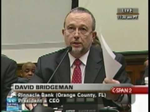 David Bridgeman Testimony Before the US House Financial Services and Small Business Committees