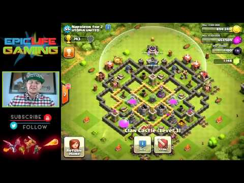 Clash of Clans Base Review! Town Hall Level 7 War/Trophy Base! Defensive Base! Farming Base!