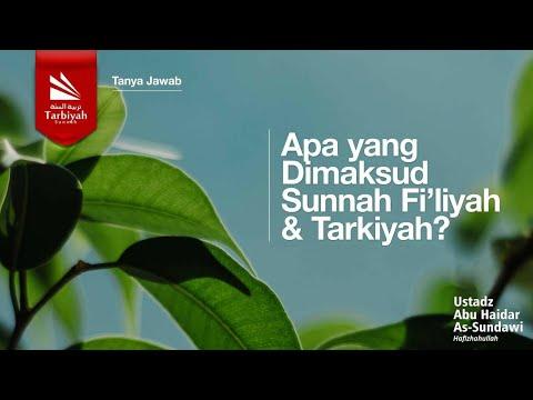 Apa yang dimaksud dengan Sunnah Fi'liyah dan Sunnah Tarkiyah? | Ustadz Abu Haidar As-Sundawy